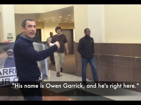 NY Blood Center Protest At Office Of Owen Garrick