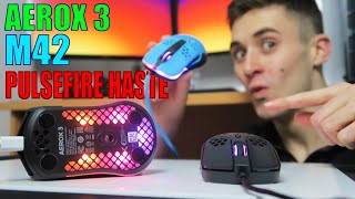 Aerox 3 vs PulseFire Haste vs Xtrfy M42 - The Best Lightweight mouse (Under $60)