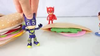 FACCIAMO gli HAMBURGER! 🍔 I PJ Masks e Splash in cucina 🍳 [Apertura giochi]