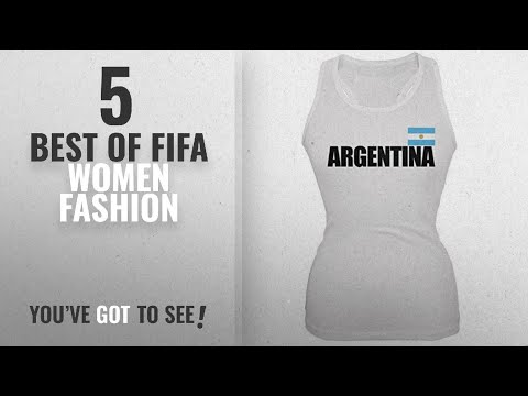 Fifa Women Fashion [2018 Best Sellers]: Argentina Flag & Letters White Soccer Juniors Tank Top -