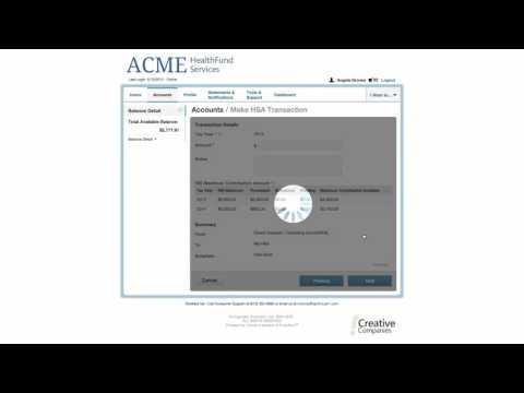 1Cloud Consumer Portal Requesting HSA Contributions