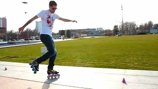 Тренировка на роликах - как ездить на одной ноге