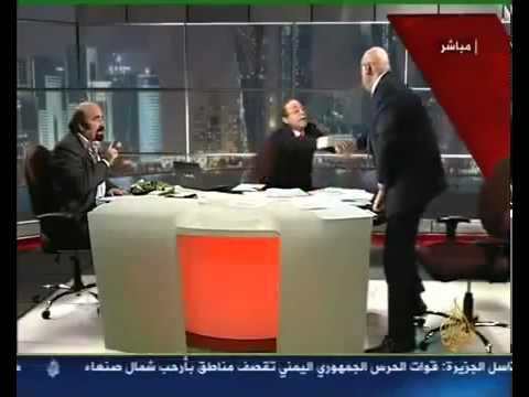 Lebanese physically assaults Syrian opposition activist on TV