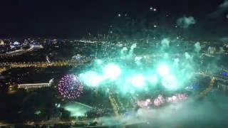 Международный фестиваль фейерверков в Москве. 4К. 22.08.2015