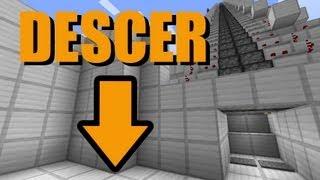 Escada rolante para descer - Minecraft Tutorial 21