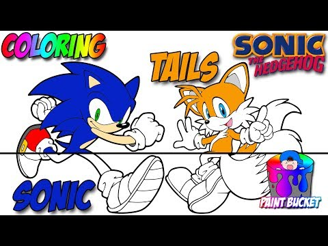 Coloring Sonic the Hedgehog and Tails - Sega Video Games Coloring Pages for Children