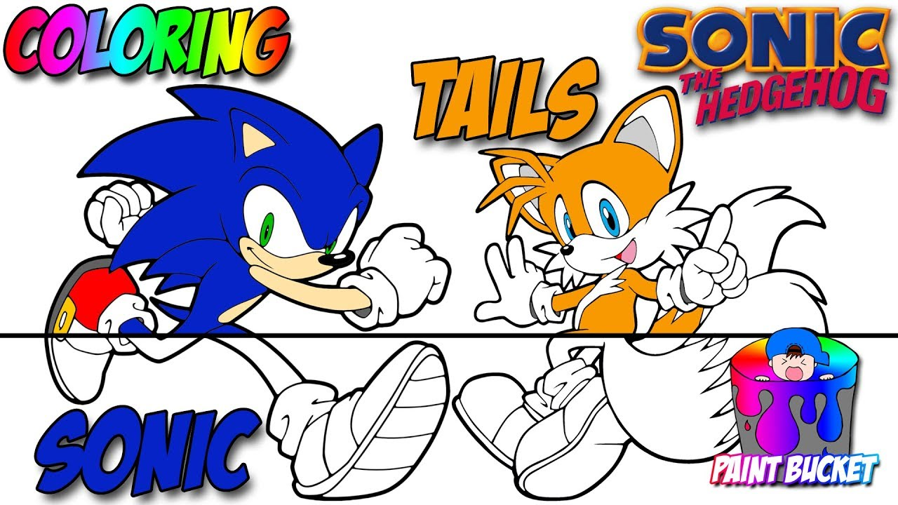 Coloring Sonic The Hedgehog And Tails Sega Video Games