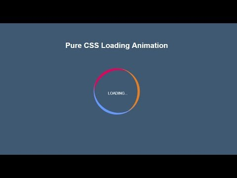 Pure CSS Loading Animation Tutorial thumbnail