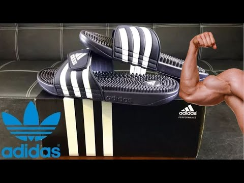770235eb2 Adidas Originals Men s Adissage Slides Sandals Review - YouTube
