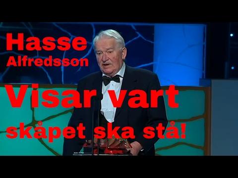 Hasse Alfredsson - Tacktal under Guldbaggen 2013