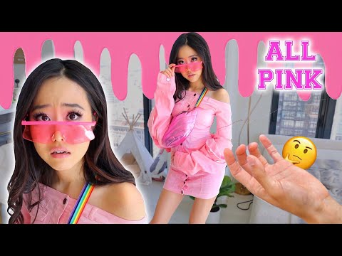wearing ONLY PINK clothes   try on haul