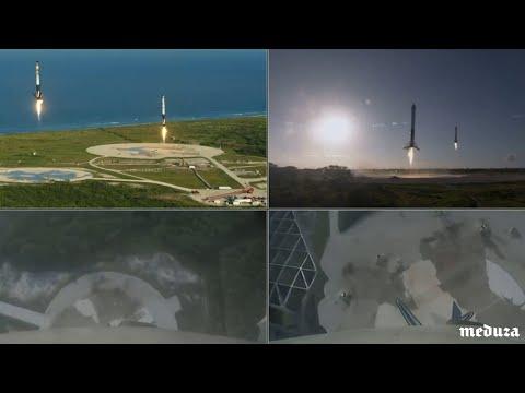 Первый коммерческий запуск Falcon Heavy