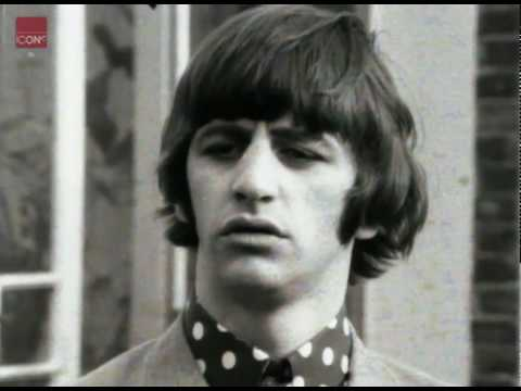 Beatles member Ringo Starr in an interview with his new wife Maureen