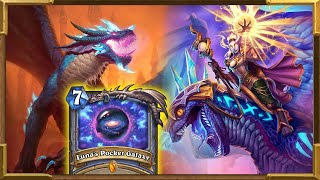 Hearthstone:  Luna's Pocket Galaxy On TURN 5! The Most Broken Mage Deck Is Back For More! Kalecgos.