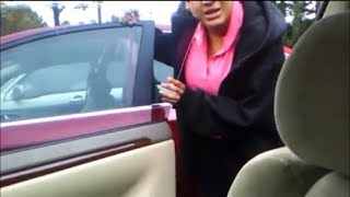 Girl goes crazy after hitting my car with her door. case 13 097694
