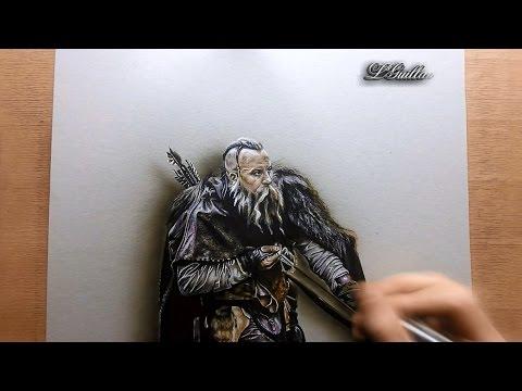 Drawing  vin diesel / the last witch hunter ( le dernier chasseur de sorcière)