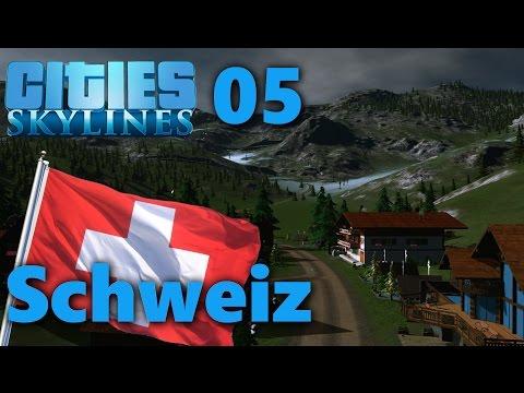 S04#005 - Berg-Pass Cresta   Lets Play Cities Skylines Snowfall   [HD, German]