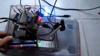 Test d'un Raspberry Pi utilisé comme camera IP wifi sur batterie