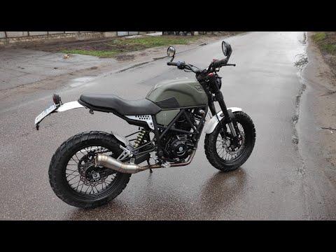 Geon Scrambler 250/ геон скрамблер после 5000км пробега /покатушки на мотоцикле /холодный пуск geon