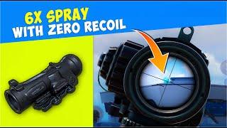 🔥 M416 + 6X Spray Zero Recoil Secret Tips   Handle Panic Situation