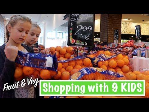 Fruit & Veg Shopping With 9 KIDS | Australian Family Vlog