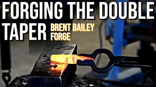 Forging Brent Bailey's Double Taper Punch from Start to Finish- Blacksmithing Tool Making