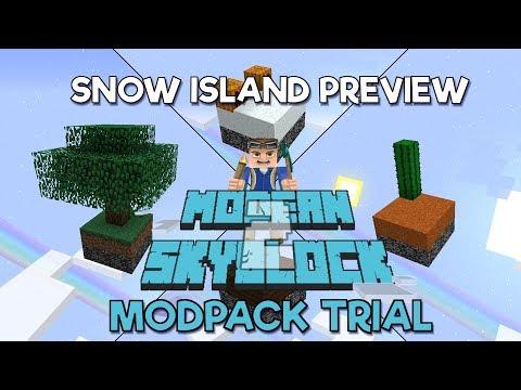 Modern Skyblock 2 – A 1.12 Modpack Trial Snow Island