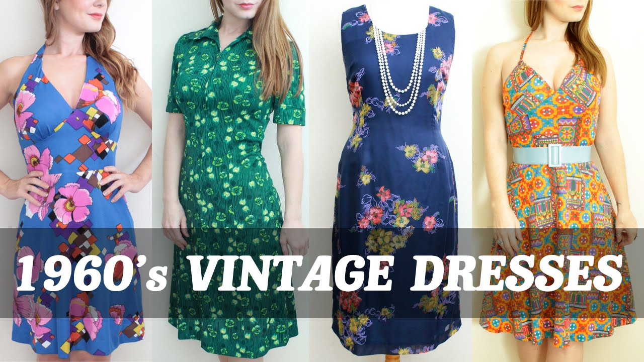 9d8dd4be9a 1960's Vintage Dresses Womens Clothing Fashion by The Hooting Owl Vintage  Company - YouTube