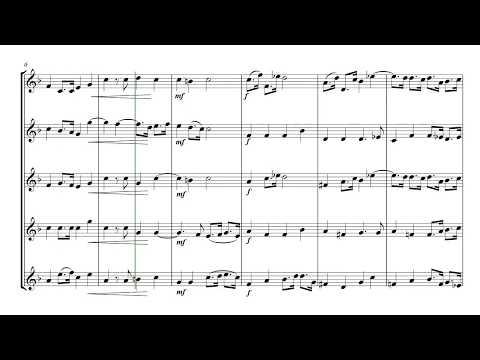 Air (Water Music Suite 1) - brass quintet