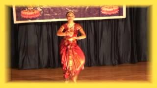 2015-BARATANATYAM || DANCE By Smt. AMBICA || SOLAPUR UGADI SAMBARALU - 2015