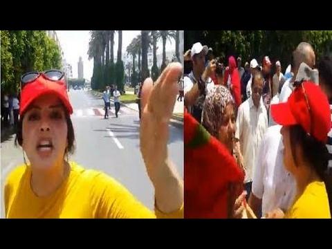 Video : Une marocaine contre la grande manifestation de Rabat - nouvelles général