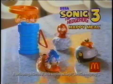 sonic the hedgehog 3 mcdonalds toys 2020