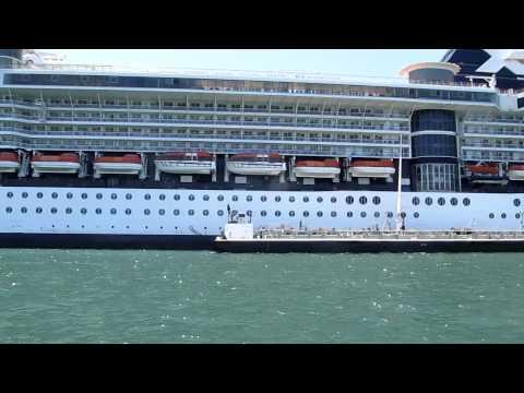 celebrity x crusie ship docked at San Diego Bay