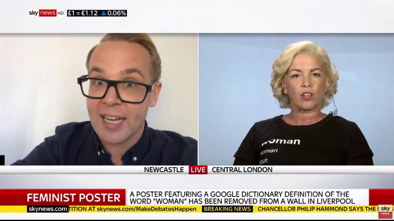 Sky News   Posie Parker V Adrian Harrop