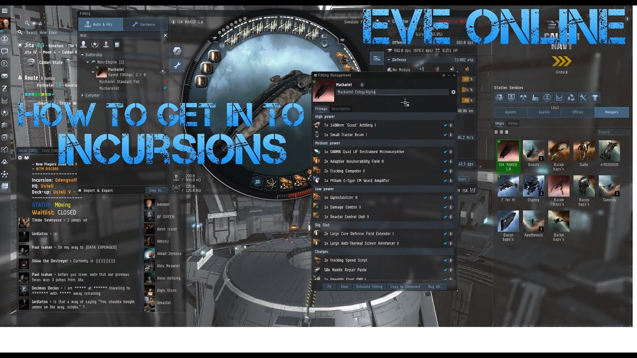 2019* Eve Online Making ISK- How to get into Incursions 2019