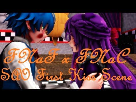 【MMD X FNaF X FNaC】SAO First Kiss Scene (Toy Bonnie X Cindy)