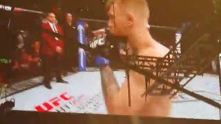 my view ufc 194 the notorious connor mcgregor entrance mgm grand