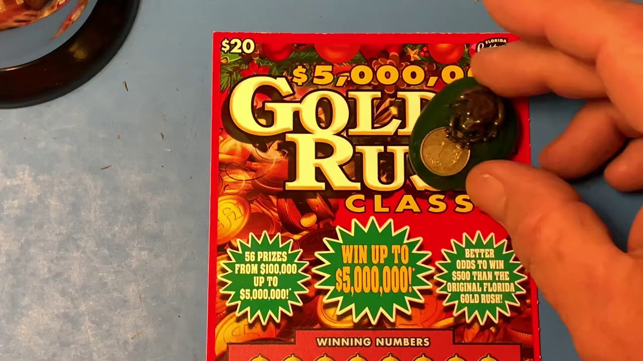 Florida Lottery Scratch Offs - $20 Gold Rush Classic Ticket