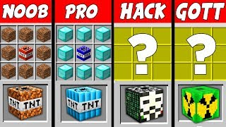 Minecraft NOOB vs. PRO vs. HACKER vs. GOTT: TNT ATOMBOMBE challenge in Minecraft
