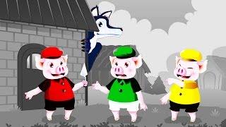 Os Três Porquinhos e o lobo - História Infantil