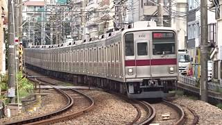 東武9000系9102F白楽カーブ通過