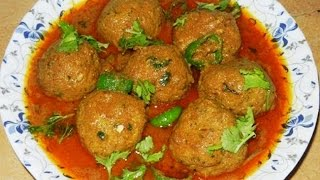 Mutton Kofta Curry Meatball Video - Kofta Curry Recipe - How to Make Mutton Kofta