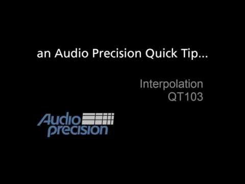Audio Precision - QT103 - Interpolation
