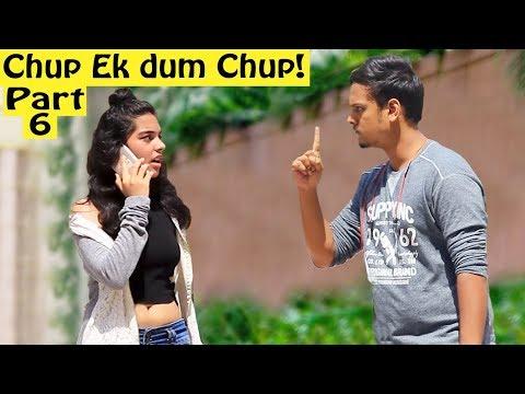 'Chup! Ek Dum Chup' Prank on Cute Girl | Pranks In India