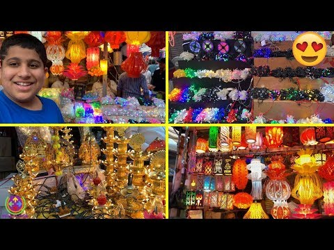 LIGHT up your HOME with Diwali LIGHTS | Cheapest DIWALI LIGHTS Market | 💡💡💡