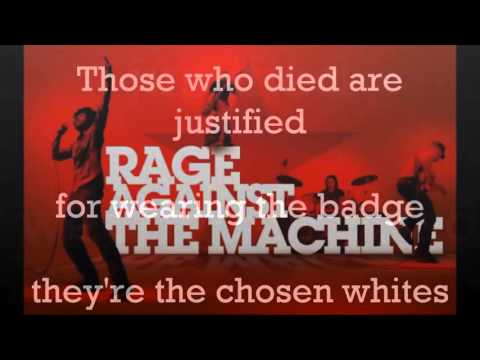Rage Against the Machine - Killing In The Name Lyrics