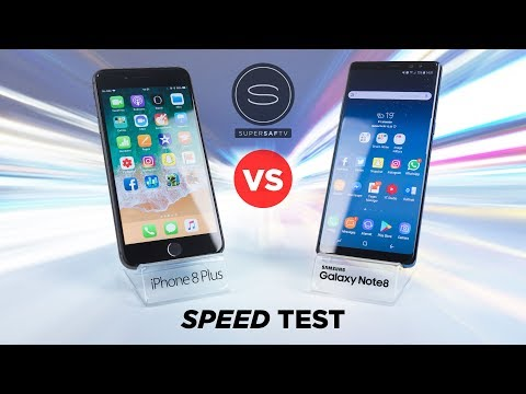 iPhone 8 Plus vs Galaxy Note 8 SPEED Test