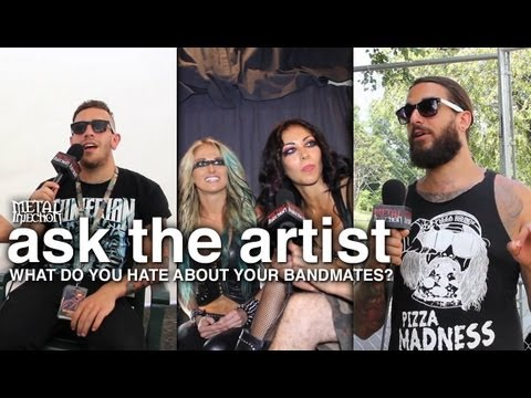 MAYHEM FEST What Do You Hate About Your Bandmates? - ASK THE ARTIST on Metal Injection