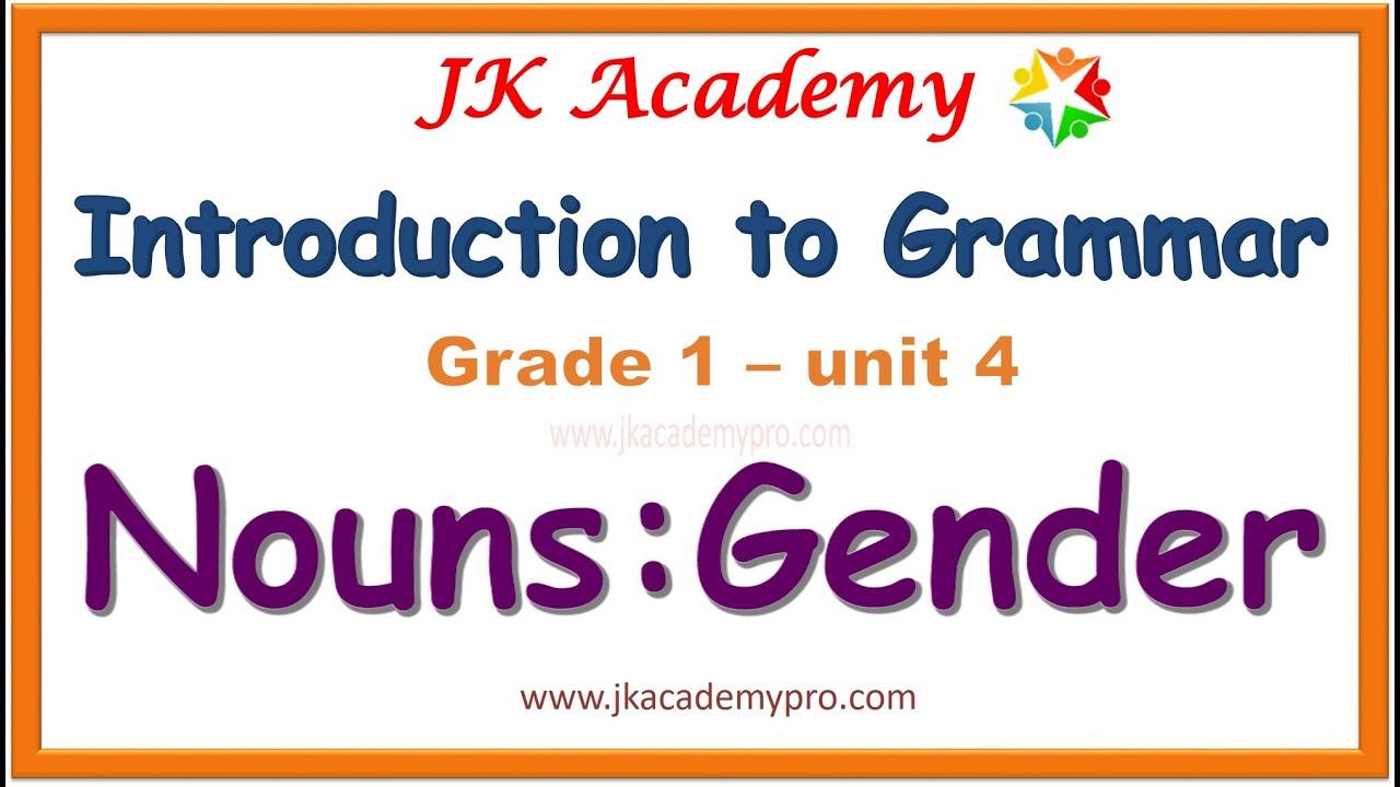 hight resolution of kinds of gender   nouns gender grade 1   nouns as gender   nouns   (class  1