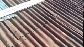 Ондулин 8 лет на крыши(В большинстве случаев так выглядит ондулин на крыши Осмотр крыши перед ремонтом., 2017-02-12T19:07:41.000Z)